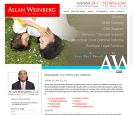 Family Law Attorney Website Design