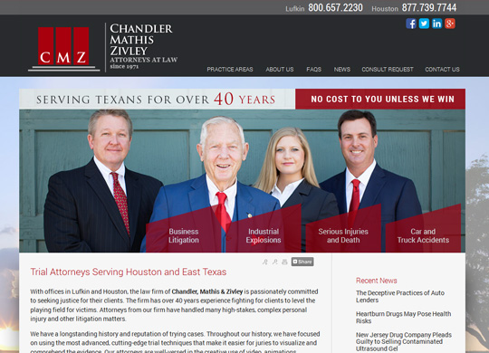 Featured Attorney Website