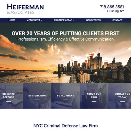 Criminal Defense Attorney Website Design