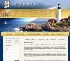 Employment Law Attorney Website Design