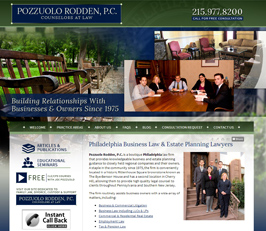 Business Law Attorney Website Design