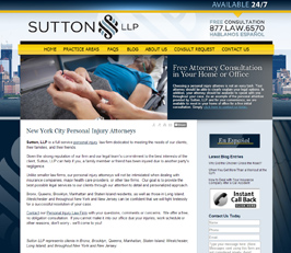 Personal Injury and Medical Malpractice Attorney Website Design